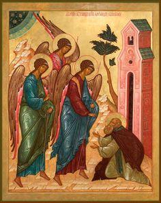 Apparition of the Holly Trinity to St Alexander of Svirsk #God #Jesus #Spirit #Christianity #Orthodox #icons #art