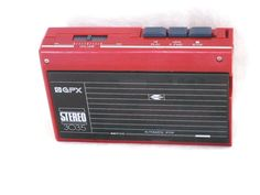 vintage gpx red stereo cassette player model 3035 from $15.95