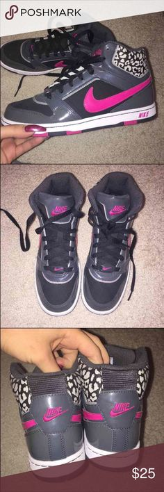 Leopard Nike high tops Never worn! (no box) Nike Shoes Athletic Shoes
