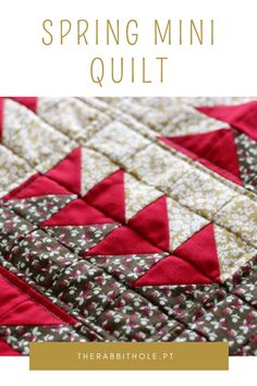 Why making mini quilt? What I learned making a mini quilt for spring. Rabbit Hole, Mini Quilts, Quilting Projects, Scrap, Spring, Pattern, Fabric, Handmade, Scrappy Quilts