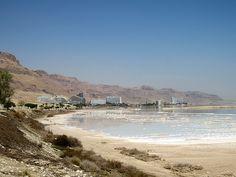 Dead Sea, northern area of Ein Bokek, Israel Dead Sea Israel, Sea Level, Holy Land, Hotels, Ocean, Faith, World, Beach, Water