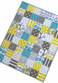 Rita at Red Pepper Quilts says: I made this simple baby quilt using the Bella collection by Lotta Jansdotter as well as additional fabrics from stash.
