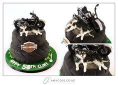 Harley Davidson Cake  Cake by Scrumptiousjo