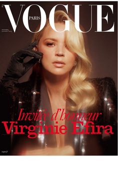 Actress Virginie Efira lands the cover of Vogue Paris' December 2019 January 2020 edition captured by fashion photographer Mikael Jansson. Vogue Magazine Covers, Fashion Magazine Cover, Vogue Covers, Emmanuelle Alt, Vogue Paris, Paris December, January, Joan Smalls, Victoria