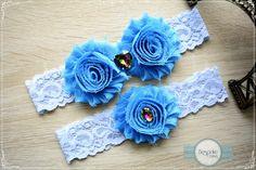 Blue Lace Garter, Bridal Garter, Bridal Garter Set, Bridal Garters, Bride Garter, Lace Bridal Garter, Blue Bridal Garter, Bridal Accessory by BespokeGarters on Etsy