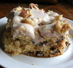 Dessert Recipe: Butter Pecan Chocolate Chip Cake with Nutmeg Frosting