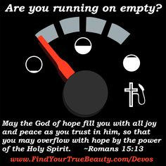 Are you running on empty? Fill up with free teen devotionals... for girls! http://www.FindYourTrueBeauty.com/devos