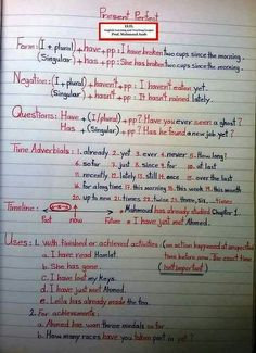 What are the basics of English grammar? English Grammar Notes, English Vocabulary Words, Learn English Words, Grammar And Vocabulary, Grammar Lessons, English Writing, English Lessons, Vocabulary Games, English Grammar Tenses