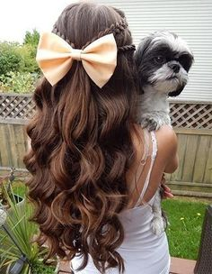 wedding hairstyles easy hairstyles hairstyles for school hairstyles diy hairstyles for round faces p Braided Hairstyles For Teens, Girls School Hairstyles, Diy Hairstyles, Pretty Hairstyles, Cute Down Hairstyles, Kids Wedding Hairstyles, Church Hairstyles, Hairstyle Ideas, Latest Hairstyles