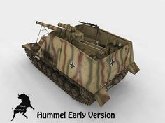 Sd Kfz 165 Hummel  Early version Original German SpH from IIWW , early version with the east front scheme camo