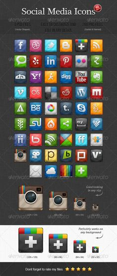 52 Social Media Icons by Brave If you like this item, please check this ones: 52 Social Media Icons This pack contains 52 fully scalable vector icons in a pe