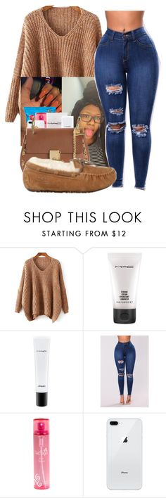 """10:55 pm"" by littydee ❤ liked on Polyvore featuring MAC Cosmetics, Pink Sugar, Chloé and UGG Australia"