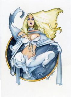 Emma Frost by Alfonso Azpiri Comic Art