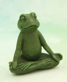 Frog Statues, Garden Statues, Low Maintenance Garden Design, Lotus Pose, Cast Stone, Stone Texture, Amphibians, 6 Inches, Buddha
