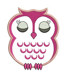 Applique design Combine a fluffy material to this owl's tummy and it will have a soft fluffy look.