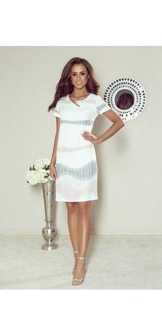 Sukienki wieczorowe - Kolekcja wiosenna    Sukienka z paskiem White Dress, Dresses, Fashion, Vestidos, Moda, Fashion Styles, Dress, Fashion Illustrations, Gown