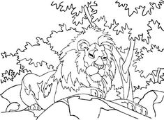 Printable Lion Coloring Pages. When asked who is the king of the forest? Immediately people will answer the lion. In fact, do you know that lions don't really live in the forest? Lion Coloring Pages, Family Coloring Pages, Tree Coloring Page, Alphabet Coloring Pages, Coloring Pages To Print, Printable Coloring Pages, Coloring Pages For Kids, Coloring Books, Mandalas
