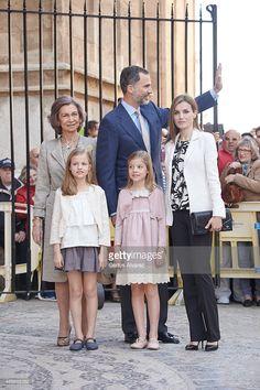 Spanish Royals Queen Sofia King Felipe VI of Spain Queen Letizia of Spain Princess Leonor of...