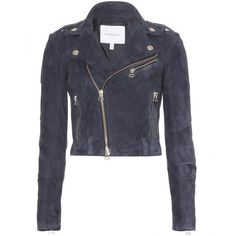 Pierre Balmain Suede Biker Jacket ($1,831) ❤ liked on Polyvore