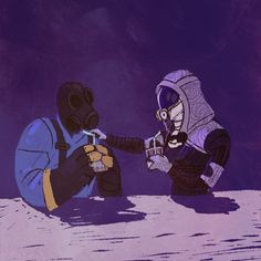 Pyro (Team Fortress 2) and Tali
