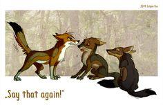 Say That Again! by Culpeo-Fox.deviantart.com on @deviantART