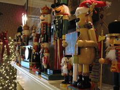 Nutcrackers on the mantle by DC Products, via Flickr