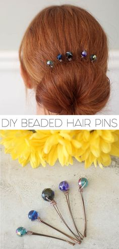 Got loose beads and a few minutes? Made these DIY Hair Pins!