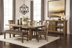 82aba8643401 Tamilo - Gray Brown - RECT Dining Room EXT Table