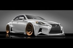 The winner of the 2014 Lexus IS F Sport design contest envisioned a car with a lowered chassis and huge bronze wheels.