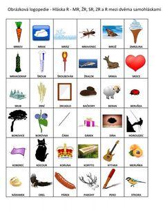 Výslovnost hlásek :: 32zsul-husakovas7 Therapy Tools, Speech Therapy, Language, Preschool, Logos, Education, Dyslexia, Autism, Speech Pathology