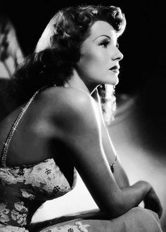 Rita Hayworth photographed on the set of You Were Never Lovelier 1942
