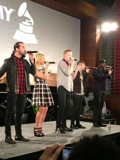Getting the Grammys started woth rehersals! So glad PTX got nominated!!!!! So proud of you!