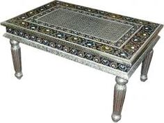 Antique Hand Painted Meenakari Coffee Table