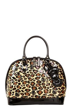 OMG...leopard AND HK...my 2 Favs, r u effin kiddin me?????Loungefly - Hello Kitty Leopard Patent Embossed Dome Bag | Leopard & Lace