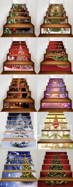 50 off christmas stair stickers free shipping worldwide