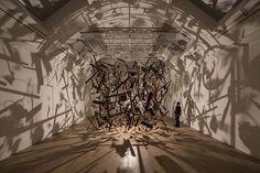 Cornelia Parker,Cold Dark Matter: An Exploded View - Photo, David LeveneThe Whitworth Gallery — Manchester