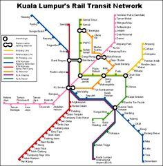 Kuala Lumpur rail map Maps Pinterest Kuala lumpur Malaysia