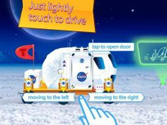 FREE: Cars in gift box (free educational and fun app for kids) - an interactive play app with 5 various vehicles (Mars rover, Moon rover, dump truck, rescue truck and a loader). Free Cars, Dump Truck, Best Apps, Car Ins, Nasa, Preschool, Ipad, Moon, Education