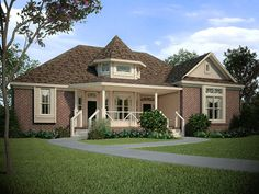 Any family would feel right at home in this 1,950 Sq. Ft. Victorian charmer, combining all of your desires into an efficient design. To see the actual floor plans for this home, click here: http://www.thehousedesigners.com/plan/the-abernathy-4621/