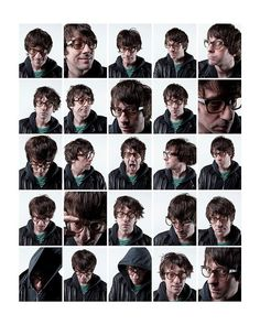 Silly faces, by Graham Coxon