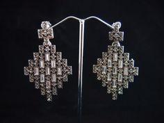 Geometric Grid earrings