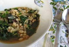 Italian White Bean Stew with Chard.  I did the tomato sub and it was amazing.