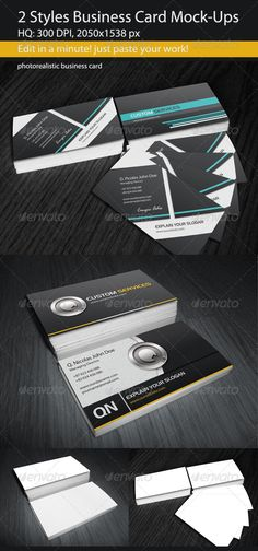 2 Styles Business Card Mock-Ups