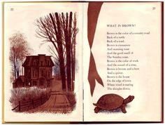WHAT IS BROWN? From Hailstones And Halibut Bones, 1961