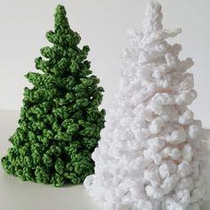 Häkelanleitung kleine Tanne / Weihnachtsbaum häkeln