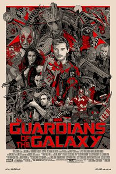 Guardians of the Galaxy by Tyler Stout hangs in my older sons bedroom