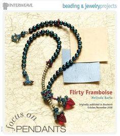 Flirty Framboise Beaded Necklace Project by Melinda Barta - Beading Daily