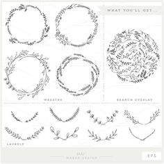 Branches Wreaths Laurels Bundle VECTOR Files by ShhMakerDesign