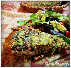 Spinach Bacon Quiche
