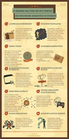 10 most common newbies make in the internet marketing Want to know which biggest mistakes other marketers are making so you can avoid them. Check out this infographic called 10 most common mistakes newbies make in the internet marketing. Marketing Digital, Marketing Mail, Marketing Na Internet, Marketing Online, Business Marketing, Content Marketing, Affiliate Marketing, Social Media Marketing, Online Business
